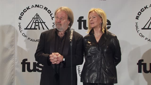 Benny Andersson and AnniFrid Prinsessan Reuss of ABBA on their 70's costumes on the records still being alive and being enjoyed and influencing...