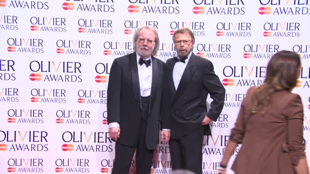 BROLL Benny Andersson and Björn Ulvaeus at The Laurence Olivier Awards with MasterCard on April 13 2014 in London England