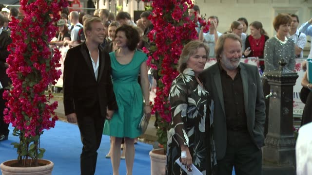 benny andersson at the mamma mia premiere at london - mamma mia stock videos and b-roll footage