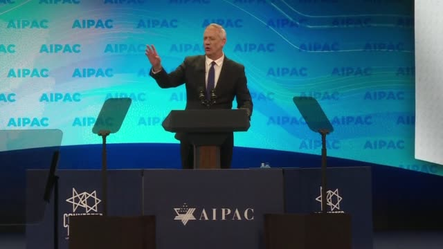 benny gantz who is posing a stiff challenge to israeli prime minister benjamin netanyahu in upcoming elections says he would not hesitate to use... - benjamin netanyahu stock videos & royalty-free footage