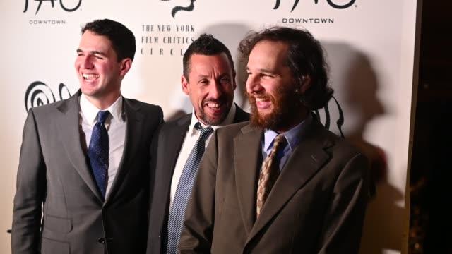 benny safdie, adam sandler & josh safdie at the 2019 new york film critics circle awards at tao downtown on january 07, 2020 in new york city. - adam sandler stock videos & royalty-free footage