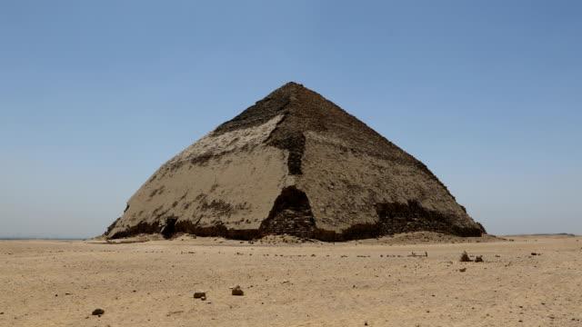 bent pyramid at dahshur, cairo, egypt - pyramid stock videos & royalty-free footage