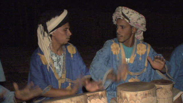 ms berbers playing traditional music, merzouga, morocco - tradition stock videos & royalty-free footage