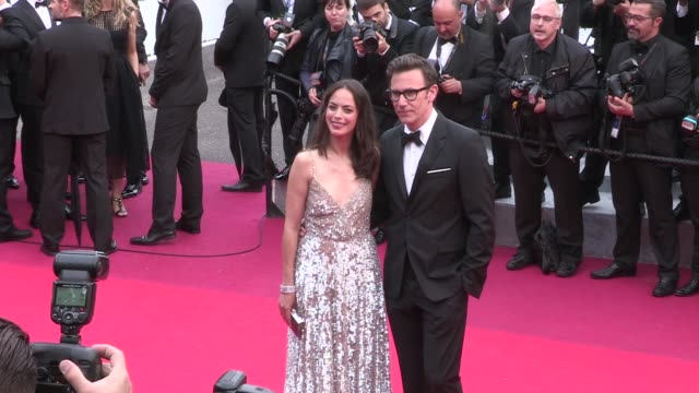 Berenice Bejo and her husband French director Michel Hazanavicius walk the red carpet for the Premiere of The BFG during the Cannes Film Festival...