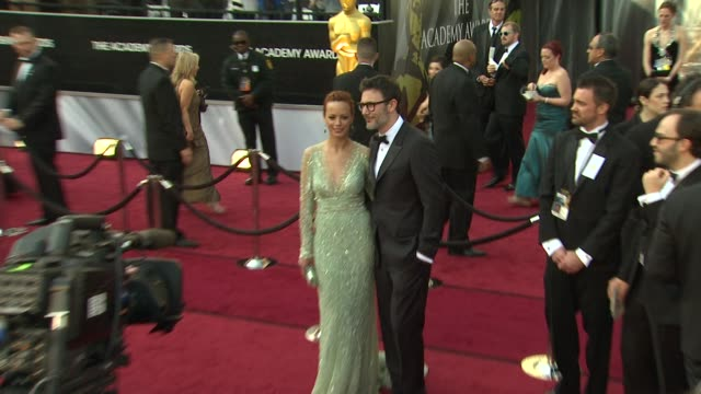 Berenice Bejo and Michel Hazanavicius at 84th Annual Academy Awards Arrivals on 2/26/12 in Hollywood CA