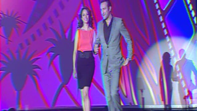 berenice bejo jean dujardin at the 23rd annual palm springs international film festival awards gala on in palm springs ca - jean dujardin stock videos and b-roll footage