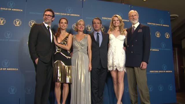 Berenice Bejo Michel Hazanavicius Penelope Ann Miller Jean Dujardin Missi Pyle James Cromwell at 64th Annual DGA Awards Press Room on 1/28/12 in Los...