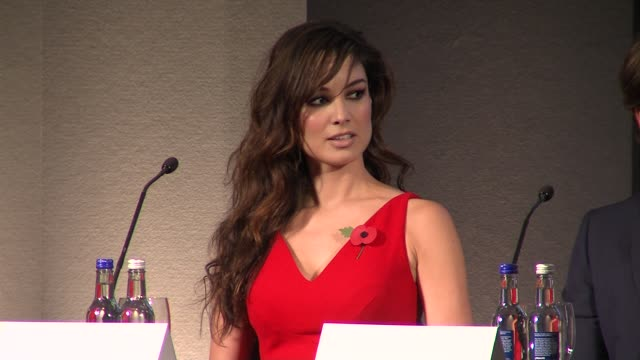berenice marlohe at the bond 23 launch press conference skyfall at london england - skyfall stock videos and b-roll footage