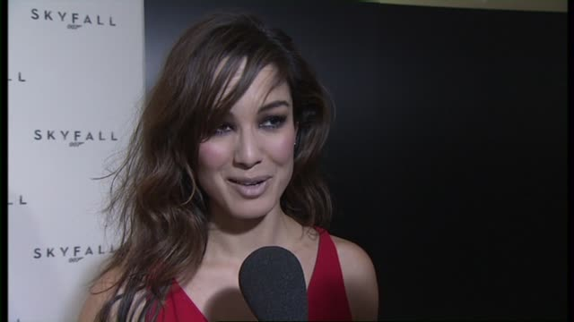 berenice marlohe on being a part of the bond series looking forward to working with sam mendes at the 23rd bond skyfall interviews on november 03... - skyfall stock videos and b-roll footage
