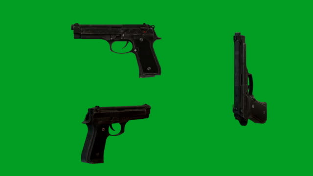 vídeos y material grabado en eventos de stock de beretta m9-pistolas automáticas - arma