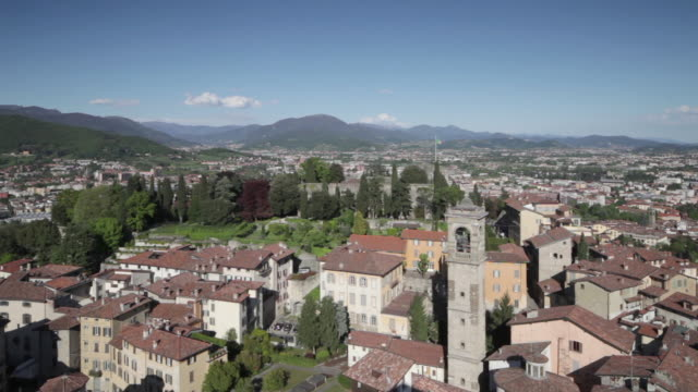 bergamo alta or the bergamo upper in italy. - 16th century stock videos & royalty-free footage