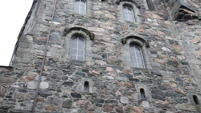 bergen, main building in bergenhus castle, 15th century  - fortress stock videos & royalty-free footage