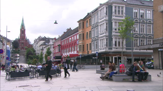 bergen, norway - bicycle parking station stock videos and b-roll footage