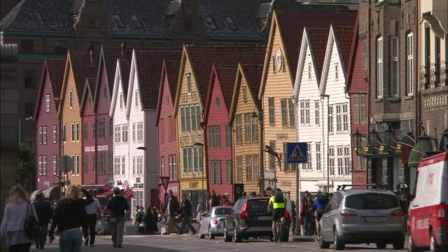 vídeos de stock e filmes b-roll de bergen, norway - bairro antigo