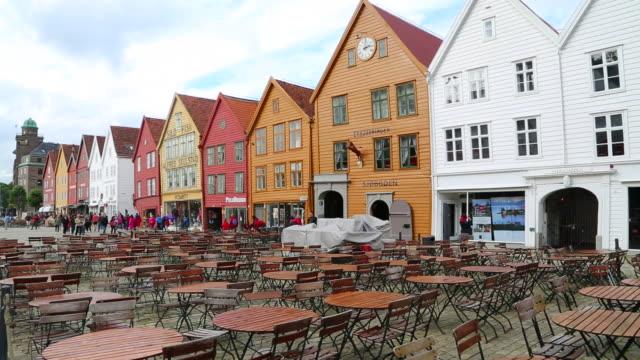 Bergen, view of the Hanseatic buildings of Bryggen