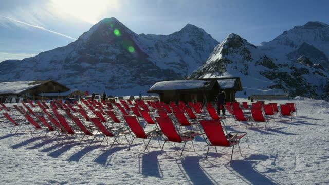Berghaus Männlichen, Eiger, Mönch and Jungfrau, Grindelwald, Bernese Oberland, Canton of Bern, Switzerland