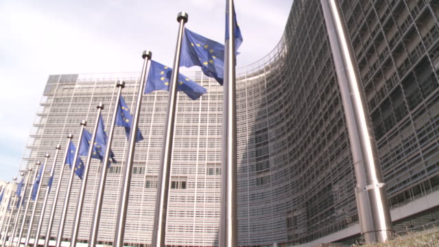 berlaymont building european commission - european union stock videos and b-roll footage