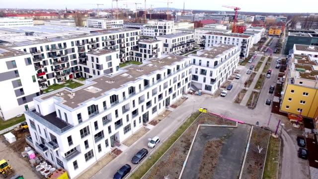 berlin adlershof aerial view - wohnung stock-videos und b-roll-filmmaterial