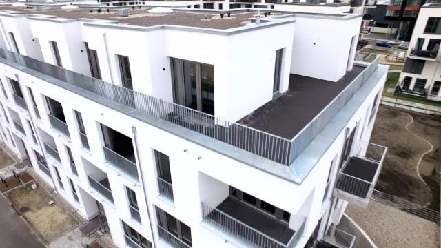 berlin adlershof aerial view - balcony stock videos and b-roll footage
