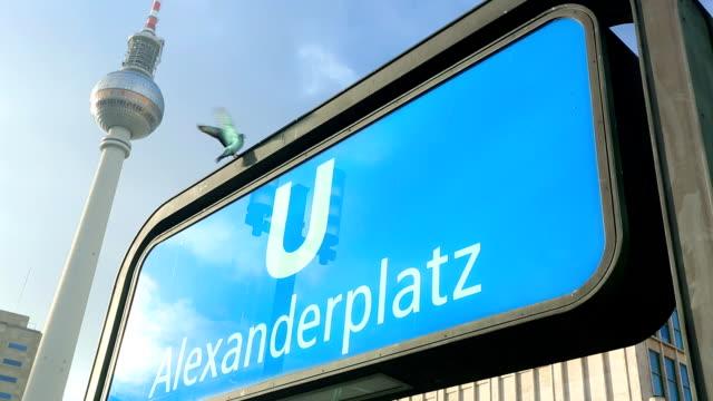 berlin alexanderplatz - alexanderplatz stock videos & royalty-free footage