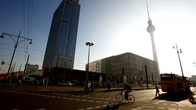 Berlin Alexanderplatz with sunlight