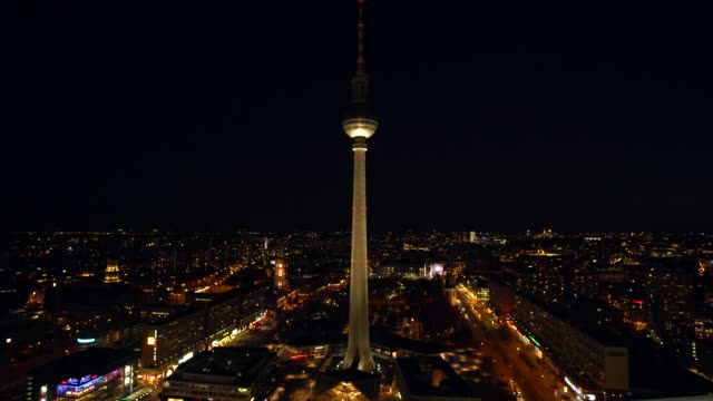 berlin alexanderplatz with tv tower, realtime - alexanderplatz stock videos & royalty-free footage