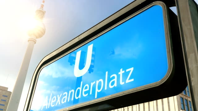 berlin alexanderplatz with tv tower, time lapse - alexanderplatz stock videos & royalty-free footage