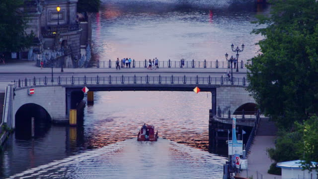 Berlin boat and bridge