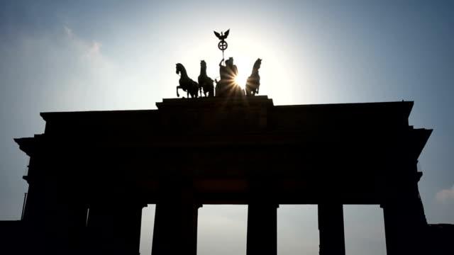 Berlin Brandenburg Gate, 2 clips - Time Lapse