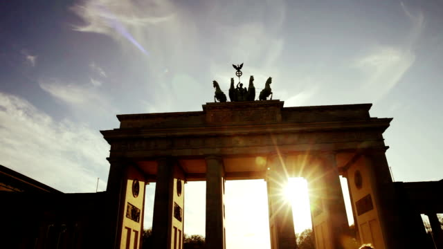 Berlin - Brandenburg Gate at sunset