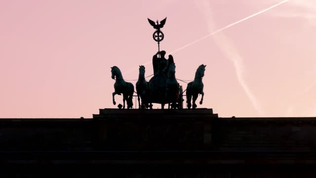 Quadriga statue-Brandenburg Gate in Berlin