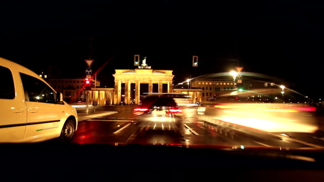 berlin by night, time lapse - windshield stock videos & royalty-free footage