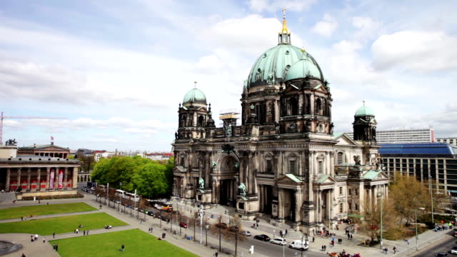 berlin cathedral - aerial view - dome stock videos & royalty-free footage