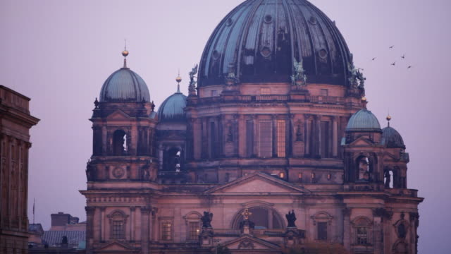 Berlin Cathedral (Berliner Dom) at sunrise, two shots