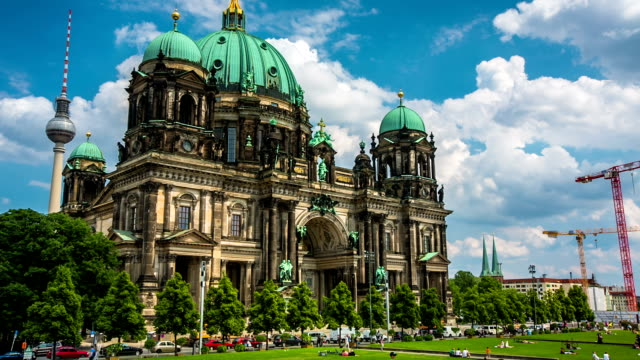 berlin cathedral germany - east berlin stock videos and b-roll footage