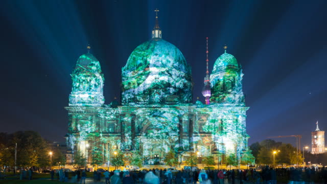 Berlin Cathedral Light Art Timelapse at the Festival of Lights
