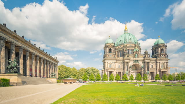Berlin Cathedral Summer Hyperlapse with Dynamic Clouds