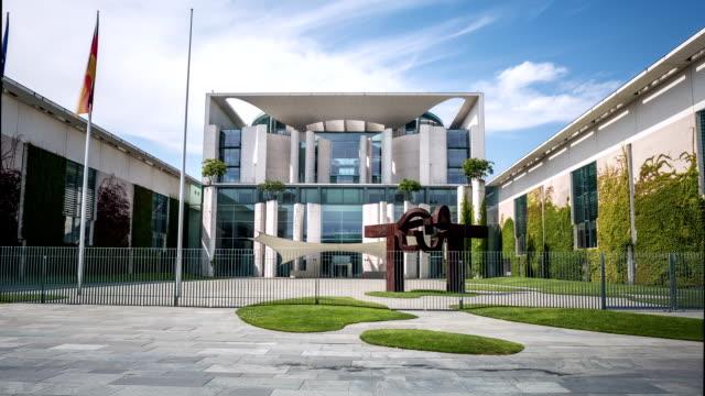 berlin chancellery building hyperlapse - vox populi stock videos & royalty-free footage