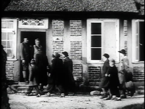 berlin children arriving at new home with british women, greeting couple, placing child on top of sheep / united kingdom, united kingdom - one animal stock videos & royalty-free footage