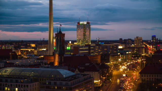ベルリンの街並み、テレビタワーカメラの傾斜
