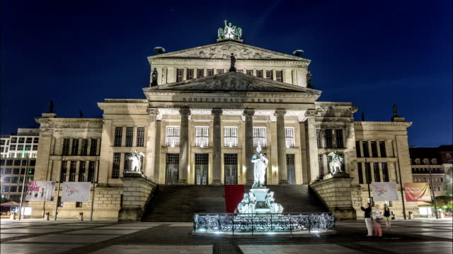 berlin concert hall hyperlapse - concert hall stock videos and b-roll footage