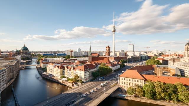 Berlin Daylight Summer Skyline Timelapse