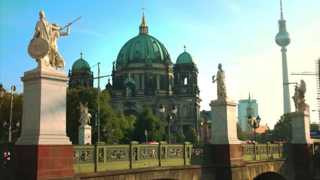 Berlin Dome Cathedral, Schlossbruecke Bridge, TV Tower Alex, Germany