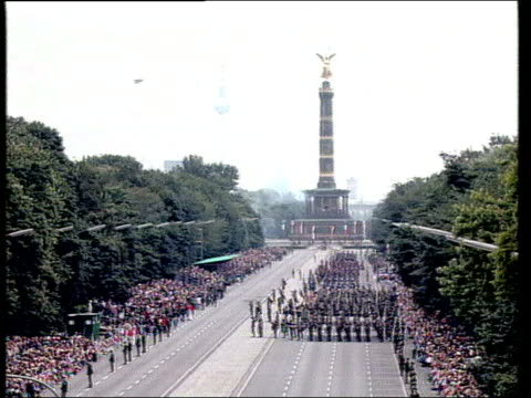 june in 1994 allied forces left berlin berlin ext soldiers taking part in official ceremony marking departure of british french and us allied forces... - allied forces stock videos and b-roll footage