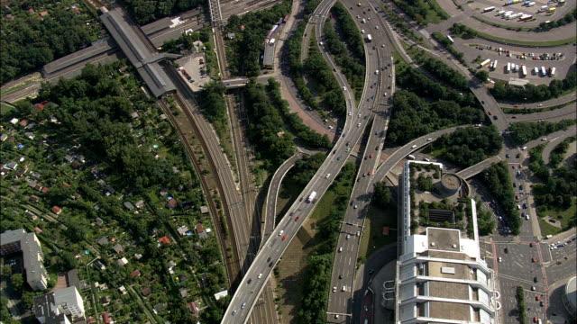 berlin from the west  - aerial view - berlin,  berlin,  stadt,  germany - west berlin stock videos & royalty-free footage