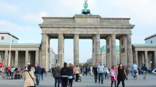 Berlin Germany Brandenberg Gate and celebration party at city center