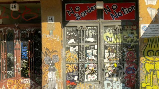 berlin, grafitti buildings, murals,zo - art stock videos & royalty-free footage