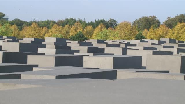 ms berlin holocaust memorial / berlin, germany - genocide stock videos & royalty-free footage