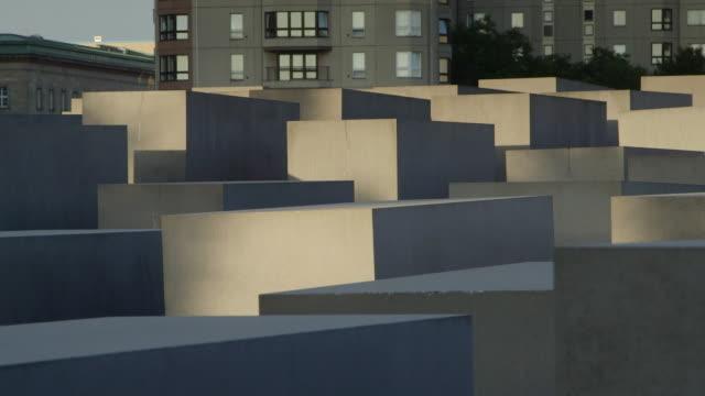 berlin holocaust memorial dolly shot - memories stock videos & royalty-free footage