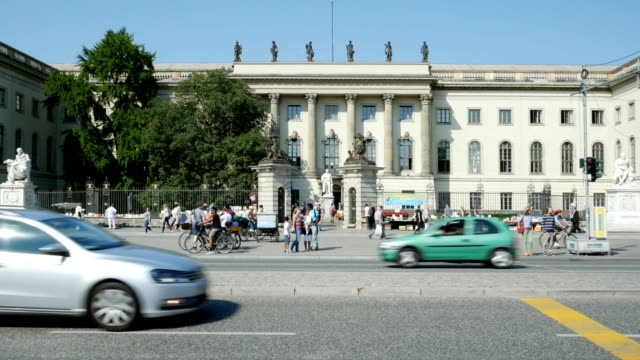berlin humboldt university main building (4k/uhd to hd) - bookseller stock videos and b-roll footage